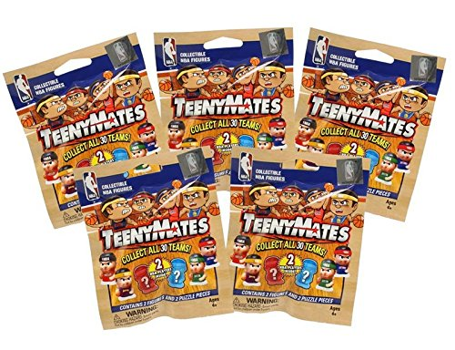 Teeny Mates - NBA Series 2 - BASKETBALL PACKS (5 Pack Lot) (Mystery Mates)
