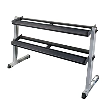 Body Solid - Mueble para mancuernas (2 estantes, ancho de 157,48 cm): Amazon.es: Deportes y aire libre