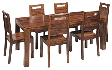 Royal Oak Saphire Six Seater Dining Table Set (Natural)