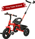 R for Rabbit Tiny Toes Grand Baby/Kids Cycle with Rubber Wheels - Smart Plug & Play Baby Tricycle for Kids/Baby for 1.5 to 5 Years (RED)
