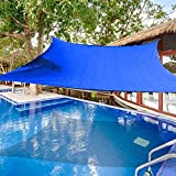 E.share 20' X 20'Blue Sun Shade Sail Uv Top Outdoor Canopy Patio Lawn Square UV Block for Outdoor Facility and Activities for Patio Backyard