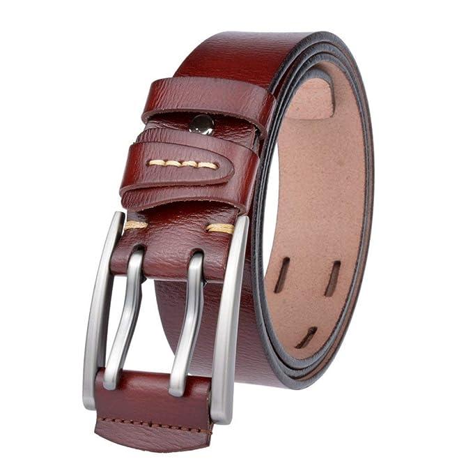 tienda de liquidación be037 abc05 Yasminey Cinturón De Cuero Real Para Hombre Hombre Marca ...