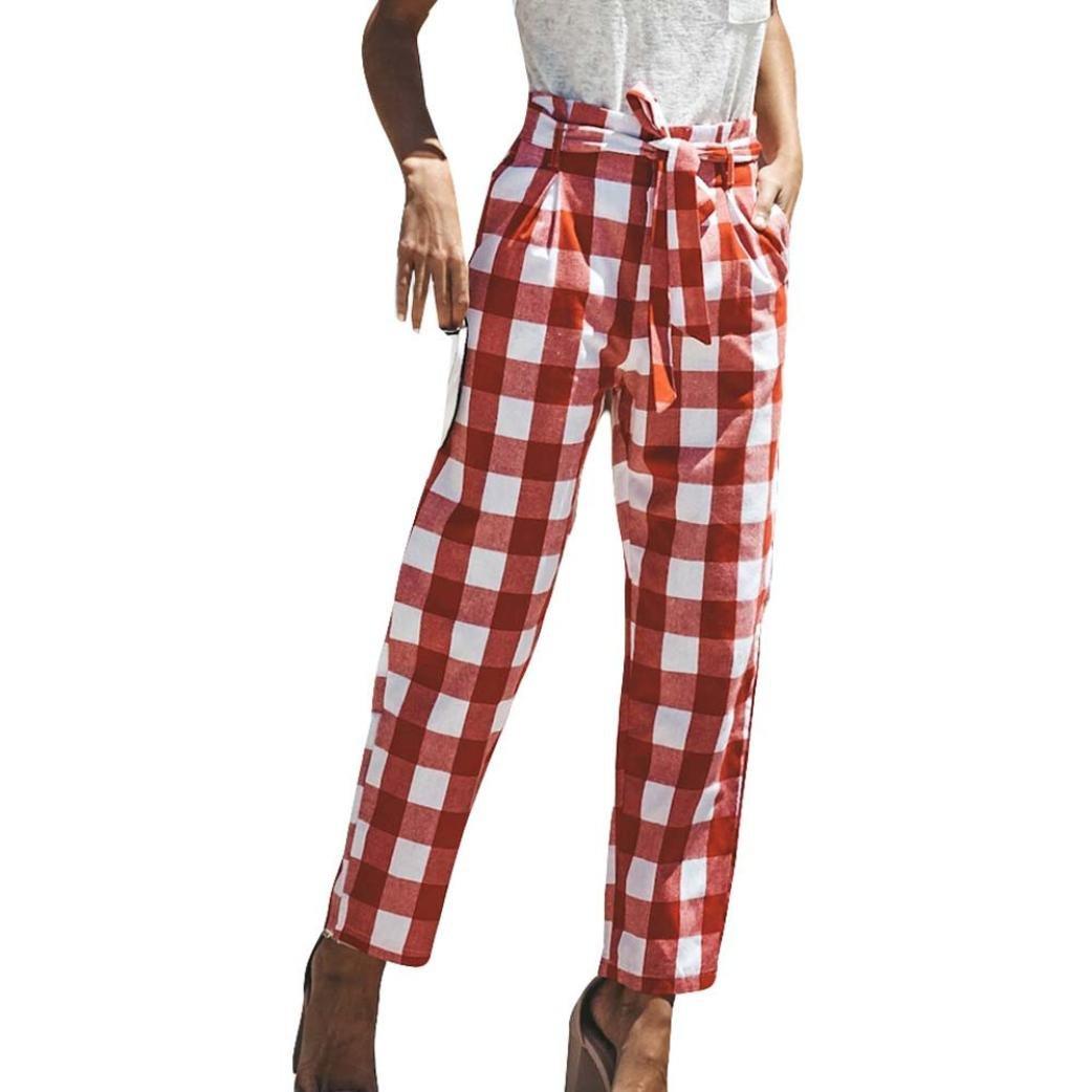 Pantalons Taille Haute Ceinture SANFASHION d128a849804