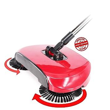 ACHATPRATIQUE Empuje de la Mano Roto Barredora de Piso sin Electricidad | Hand Push Sweeper | Barredora mecánica 114x35cm: Amazon.es: Hogar