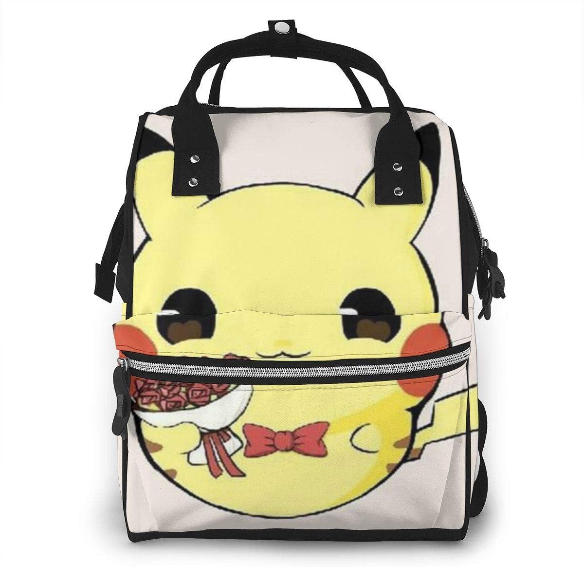Boda Pikachu Bolsa de pañales para mamá, multifunción, gran capacidad, mochila de viaje