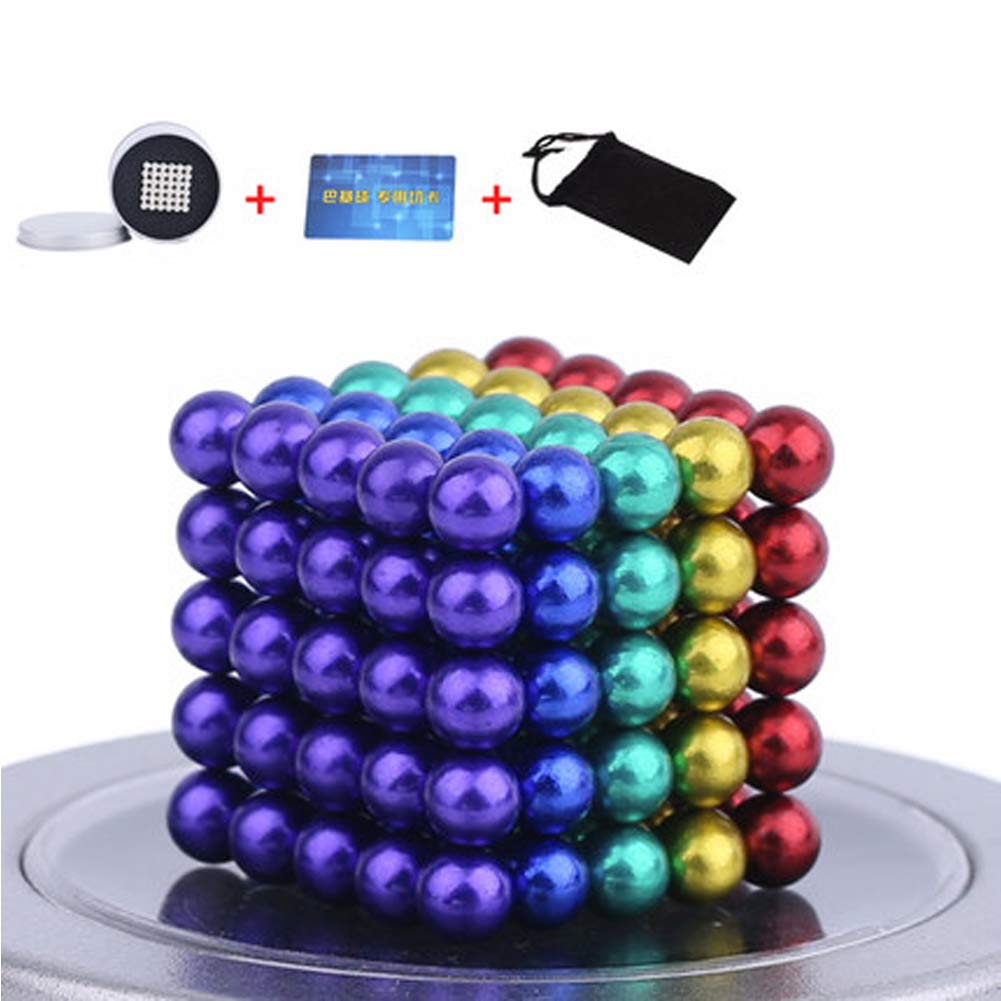 XHN Buck Ball Magic Building Ball Toys, 5mm Balls, Intelligence Development and Stress Relief Desk Toy Construction 3D Puzzle Toy-color/126PCS by XHN