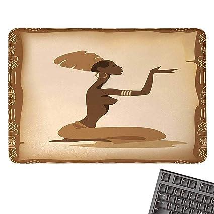 Amazon com : African WomanOffice Mouse PadAncient Folk Art Element