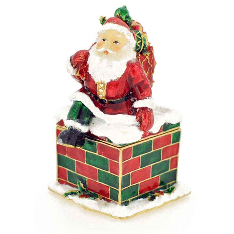 Christmas Gift Christmas Santa Claus Crystal Trinket Box