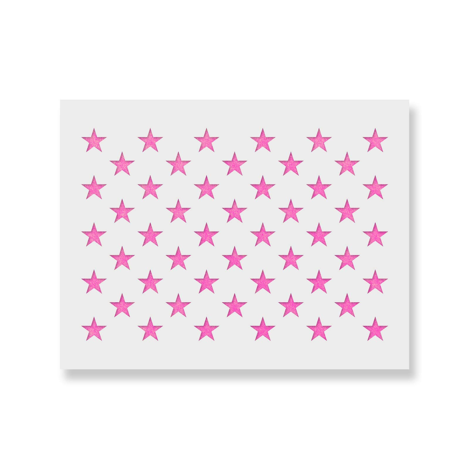 50 Stars Stencil Template - Reusable Stencil of American Flag 50 Stars in Official US Proportions (Actual dimensions 15.7'' width x 10.9'' height) by Stencil Revolution