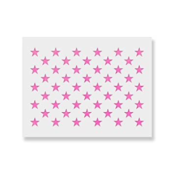 50 Stars Stencil Template Reusable Stencil Of American Flag 50 Stars In Official Us Proportions Actual Dimensions 5 3 Width X 3 7 Height