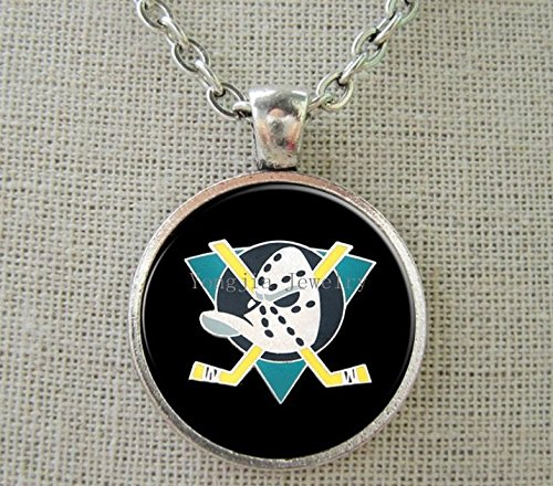 Anaheim Ducks Hockey Necklace - Enamel Pendant Charm Chain Jewelry Unisex - Shipped from U.S.A.