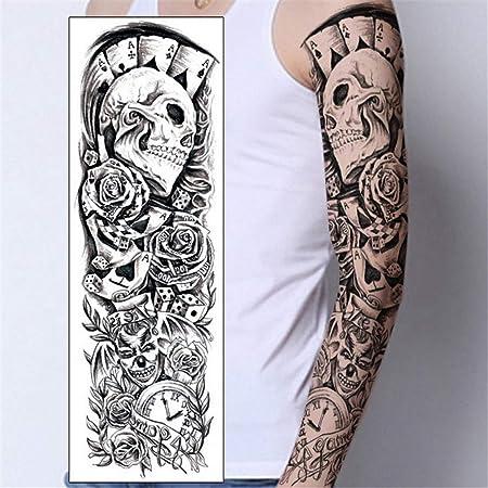 tzxdbh 3pcs Tatuaje Temporal Manga del Brazo Completo Tatuaje para ...