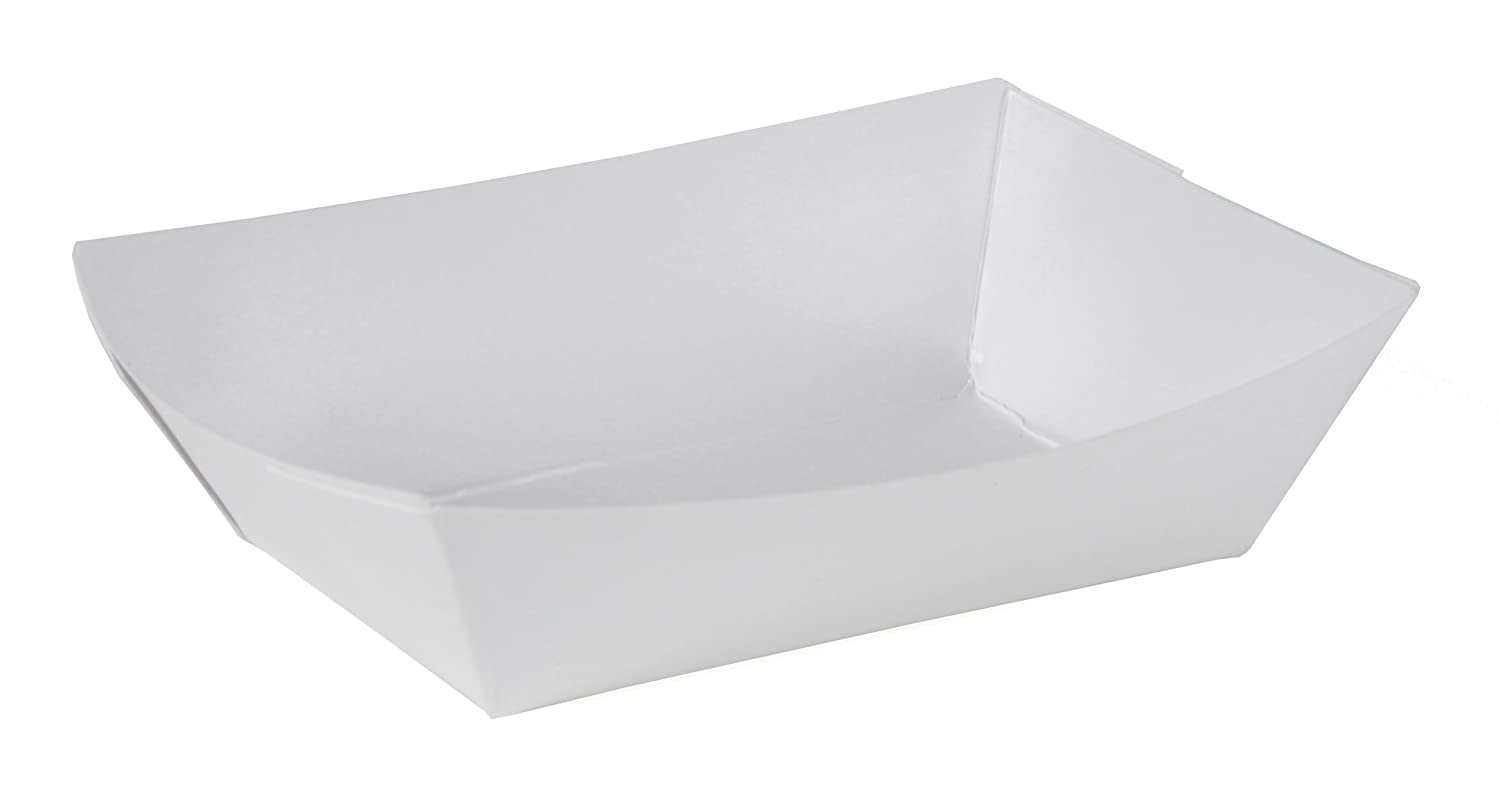 Southern Champion Tray 0550 #25 Paperboard Food Tray, 1/4 lb Capacity, White (Pack of 1000)