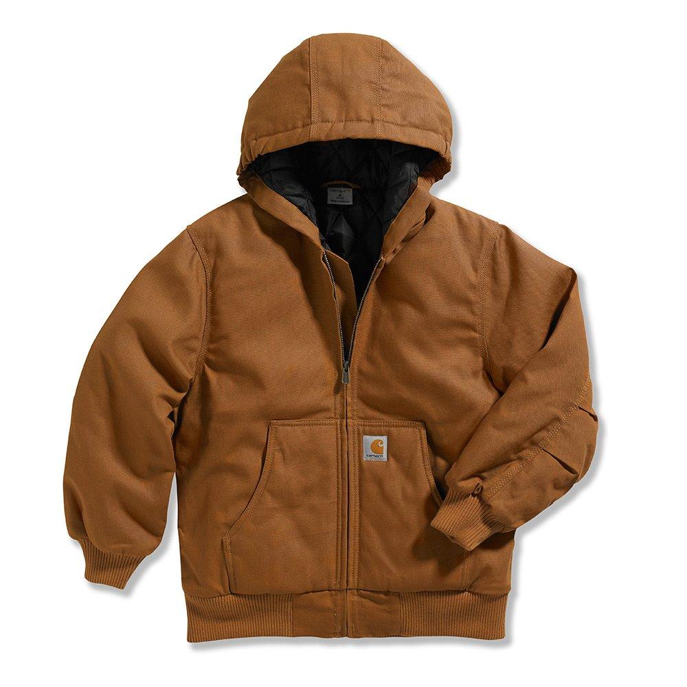 Carhartt Little Boys' Work Active Jacket, Brown, XX-Small/4/5