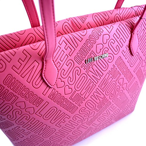 Love Moschino , Cabas pour femme rose fuchsia