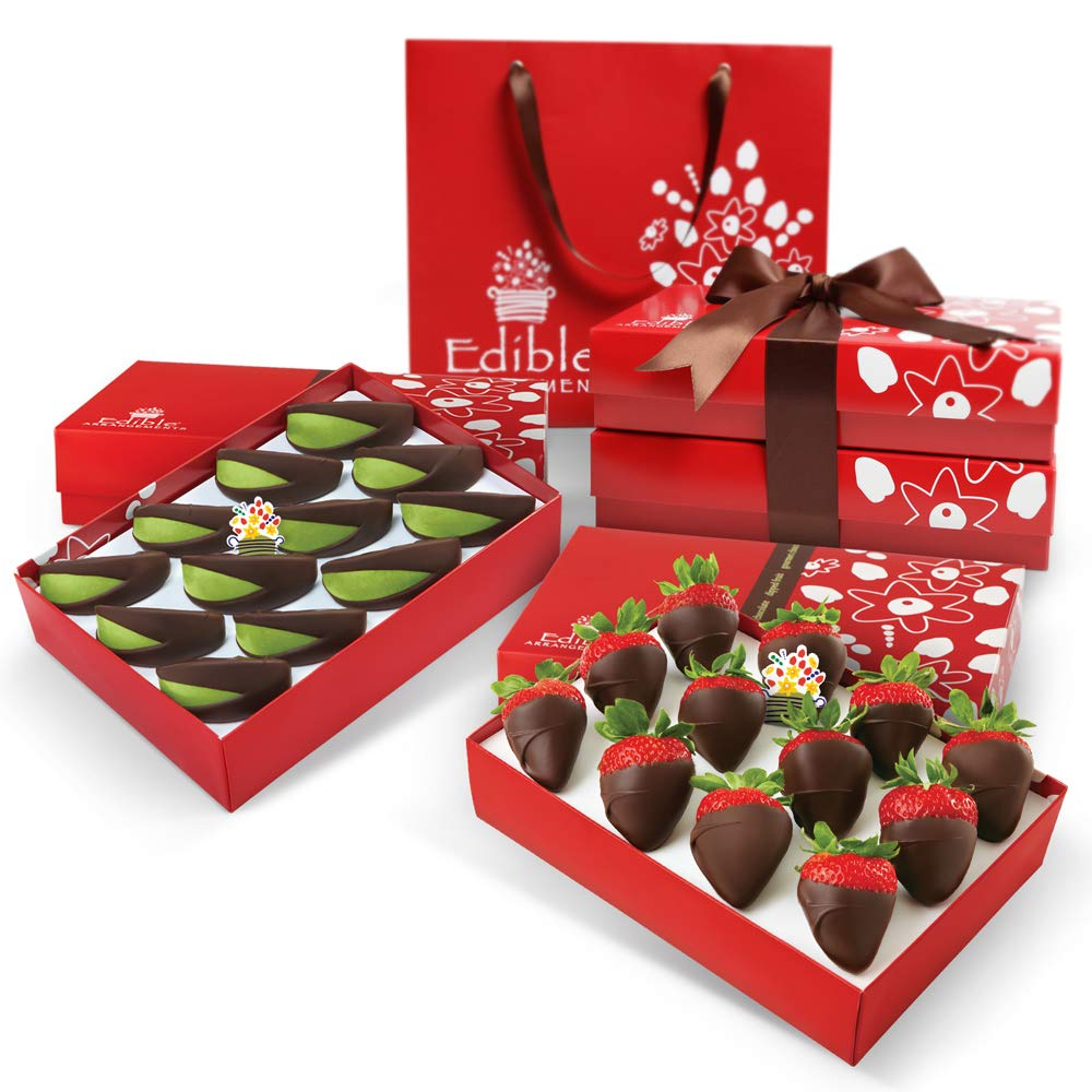 Edible Arrangements Chocolate Covered Strawberry and Apple Wedge Bundle