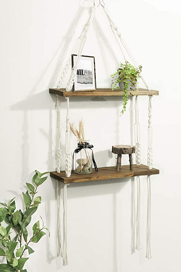 Bathroom Kitchen Modern Arrow Design Storage Shelf For Small Items Set Of 2 Black Wire Metal Wood Shelves Bedroom Small And Large Living Room Dorm Timeyard Floating Shelves Wall Mounted Home