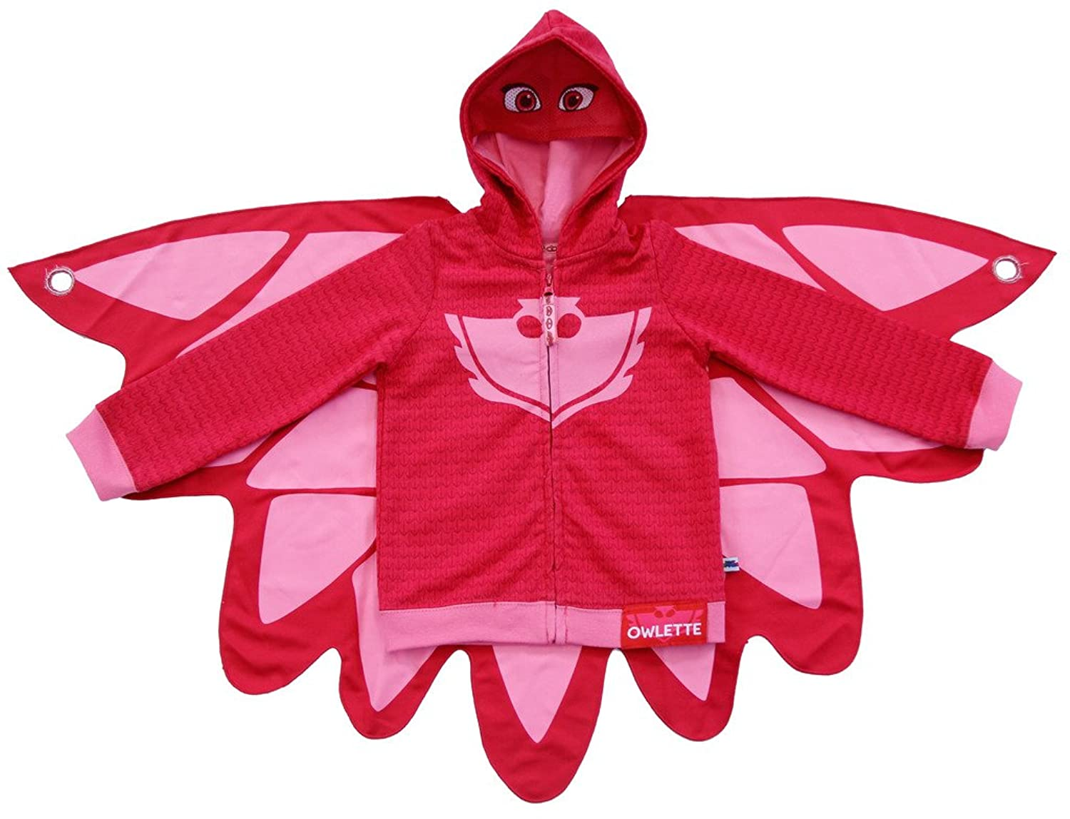 PJ Masks Owlette Toddler Girls Zip-Up Mask Hoodie