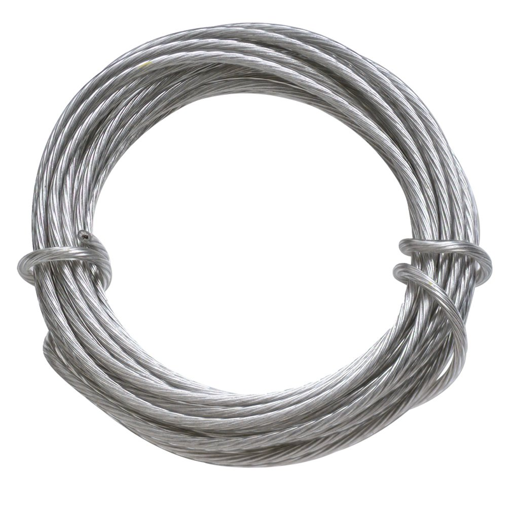 HangZ 80030 Coated Stainless Steel Gallery Wire for Hanging Pictures, 30lb, 9-Foot