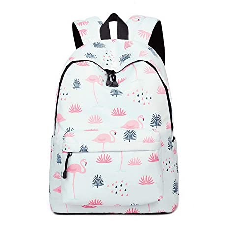 0e02f0a569d8 Amazon.com: Teecho Waterproof Cute Backpack for Girl Casual Print School  Bag Women Laptop Backpack Flamingo: Computers & Accessories