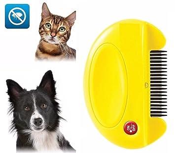 Peine eléctrico para Matar pulgas para Mascotas, Gatos y Perros, Elimina Huevos y pulgas sin Veneno: Amazon.es: Jardín