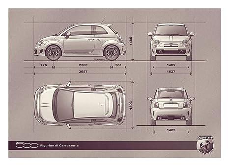 Amazon.com: Fiat 500 Abarth (2009) coche Póster en 10 mil ...