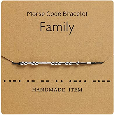 Unique Family Gift SISTER Necklace Morse Code Jewelry