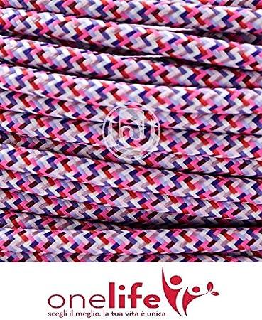 C/âble /électrique pour /éclairage rond Pixel printemps rev/êtu en tissu effet satin/é avec terre