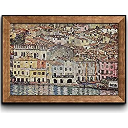 Wall26® - Malcesine on Lake Garda by Gustav Klimt - Framed Art Prints, Home Decor - 24x36 inches