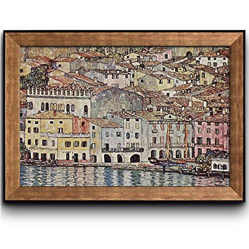 Malcesine on Lake Garda by Gustav Klimt Framed Art