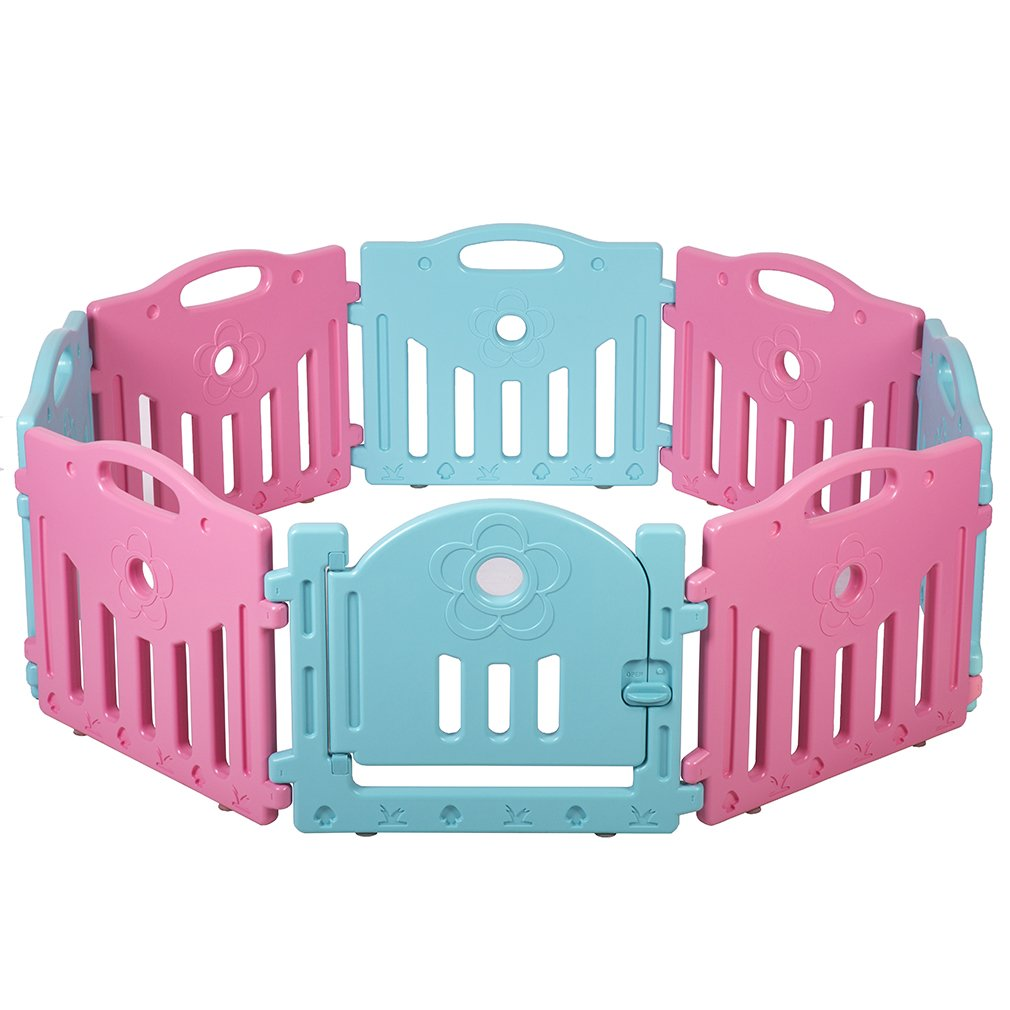 Baby Playpen Kids 8 Panel Safety Play Center Yard Home Indoor Playpen by FDW (Image #1)