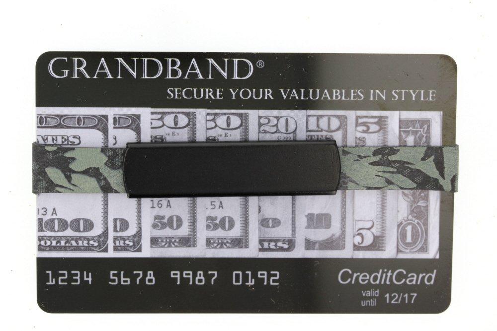 DiamondJewelryNY Money Band, Grand Band Lux Black Rectangle Annodized Aluminum Plaque Money Band