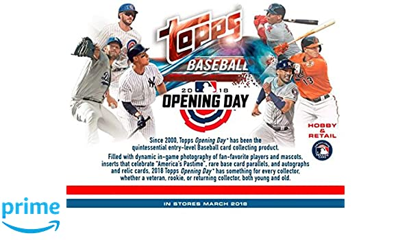 Amazoncom 2018 Topps Opening Day Baseball Hobby Box 36 Packs7
