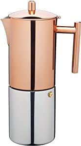 Le'xpress Stainless Steel Copper Effect Espresso Coffee Maker 600ml Gift Boxed