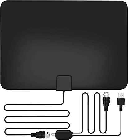 Powerful Singal Booster All TVs with 13.2ft Long Coaxial Cable Best Indoor Amplified Digital TV Antenna 60-120 Mile Range HDTV Antenna Support 4K 1080P