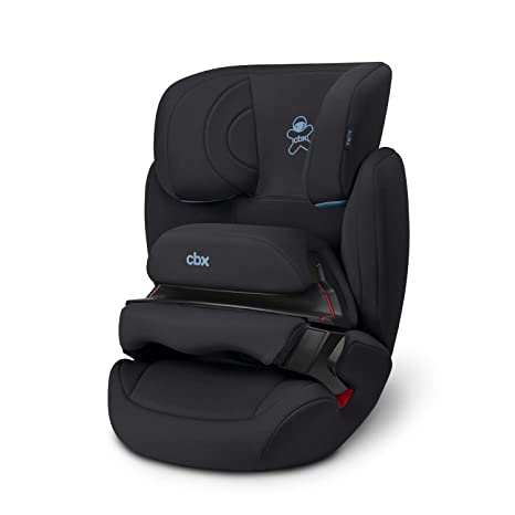 CBX Aura - Silla de coche para niños, grupo 1/2/3 (9-36 kg), desde los 9 meses hasta los 12 años aprox., sin ISOFIX, color Cozy Black