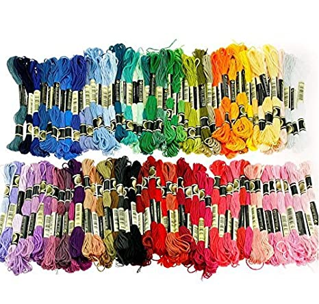 Labellevie Cross Stitch Floss Mixte Color Embroidery Floss Sewing Threads 100 Skeins J0116R2