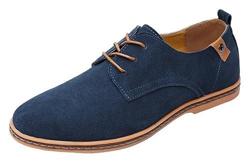 f37b3d159bd1a Wealsex Zapatos Hombre Oxford Cuero Derby Casual Ante Cordones Boda Verano  Moda Casuales Calzado  Amazon.es  Zapatos y complementos