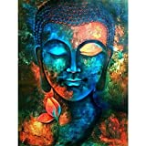 5D DIY Diamond Painting,NACOLA Rhinestone Pictures Of Crystals Embroidery Kits Arts Crafts & Sewing Cross Stitch-Buddha