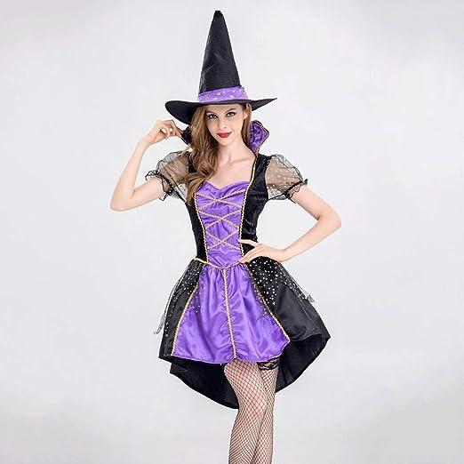 Wcsrcsy Disfraces de Brujas for Adultos Vestido de Cola de Mujer ...