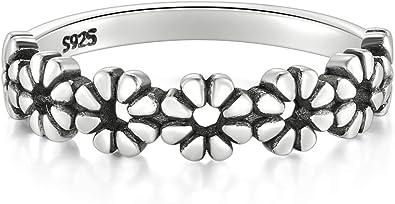 Daisy Flower Hawaiian High Polish Tarnish Resistant Comfort Fit Wedding Band Ring