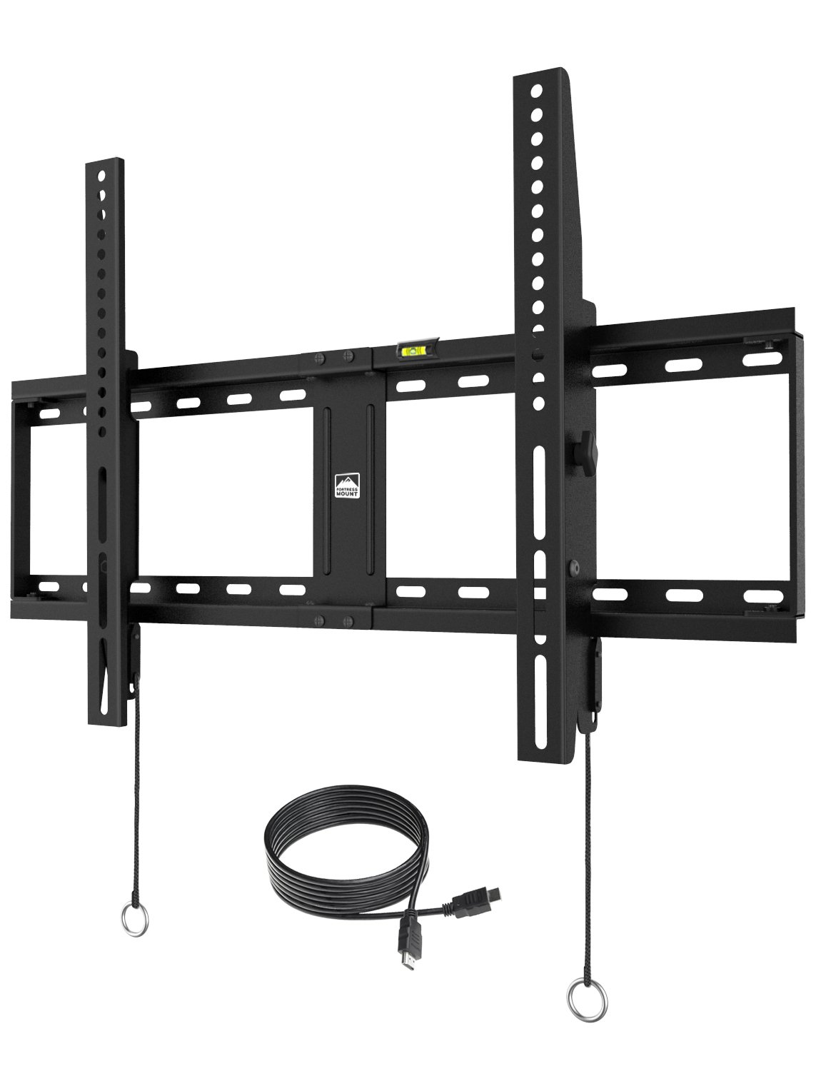 Fortress Mount TV Wall Mount for most 40-75'' TVs up to 165 lbs with 9-feet HDMI Cable (2018 Edition)