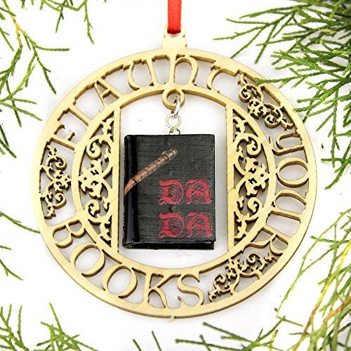 DEFENSE AGAINST THE DARK ARTS D.A.D.A. School of Magic Mini Book FRAMED Christmas Ornament by Book Beads (Jinx Christmas)