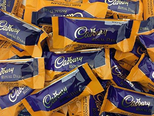 Cadbury Royal Dark Chocolate Salted Caramel, Snack Size Bar 0.5 oz (Pack of 2 Pounds)