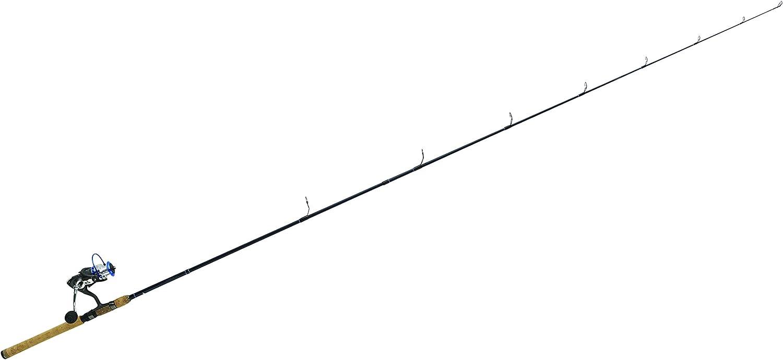 231.64 cm Negro 2 Unidades Eagle Claw Blue Diamond Graphite 76 Mh Combo Ca/ña de Pescar y Carrete Unisex Adulto