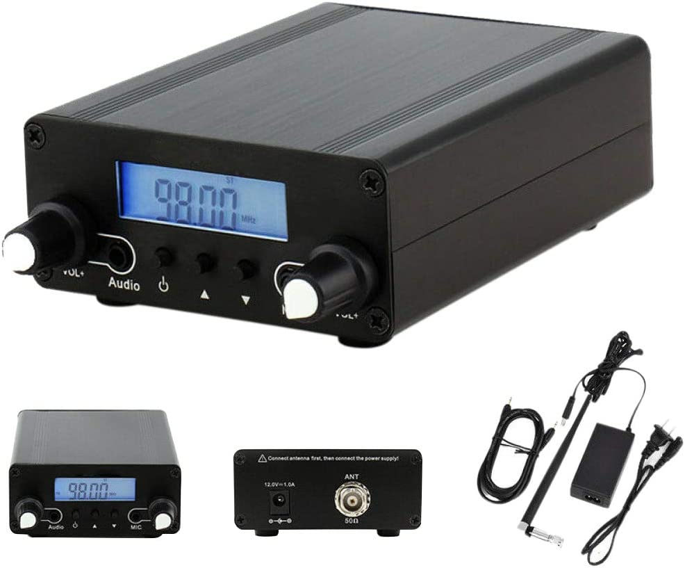 Dvluck CZE-05B 0.1/0.5W Wireless PLL FM Transmitter LCD Display 76MHz~108MHz Antenna Home Broadcast
