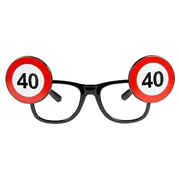 Folat 24940 - Gafas de sol para 40 cumpleaños (unisex ...