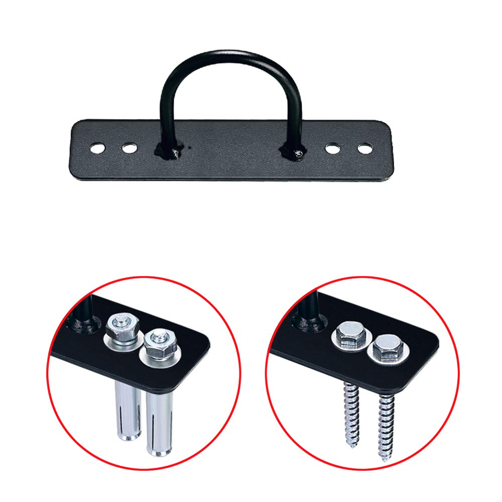 SUNMALL Wall//Ceiling Mount Anchor Bracket for Suspension Straps Gymnastic Rings,Olympic Rings,Yoga Swing /& Hammock,Battle Ropes,Body Weight Strength Training Systems/&Boxing Equipment