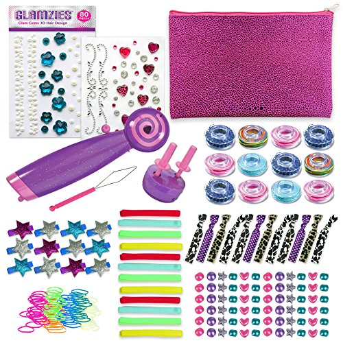 Wrap Glam (Glam Twirl Glam It Up Pack - Automatic Hair Braiding Tool for Easy Hairstyles for Girls)
