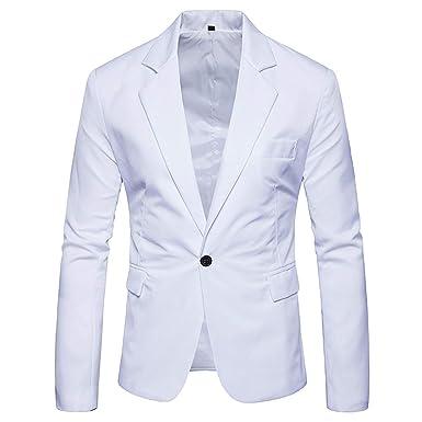 Chaqueta de Traje Blanco Slim fit para Hombre Marca Traje de ...
